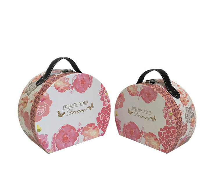 Fancy Cardboard Suitcase Decorative Boxes For Wedding Favors Gifts