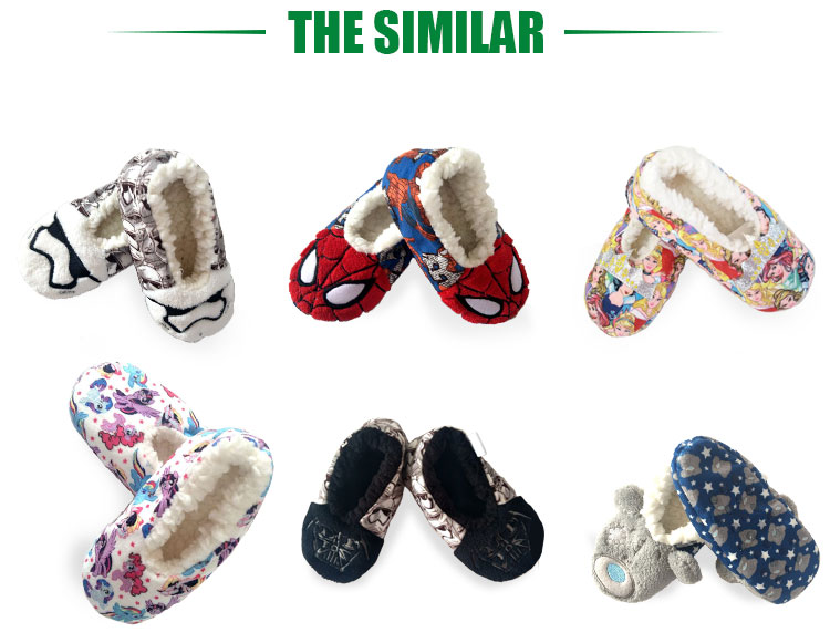 Wholesale Winter Wool Shoes Made In China Home Cartoon Slipper