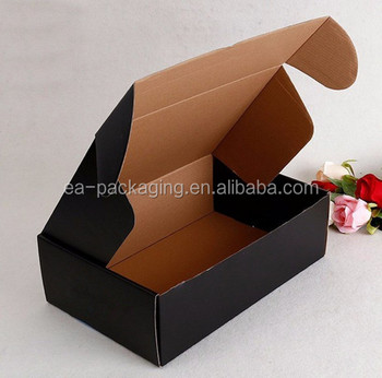b280192e307 Full Color Custom Printed Recycled Kraft Corrugated Black Mailing Box made  in China