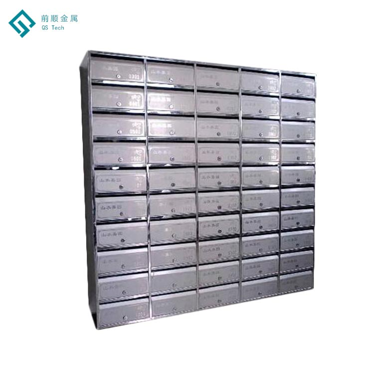 High Quality Modern Stainless Steel Letter Boxes Standing Mailbox with Option Finish Paper Mailboxes