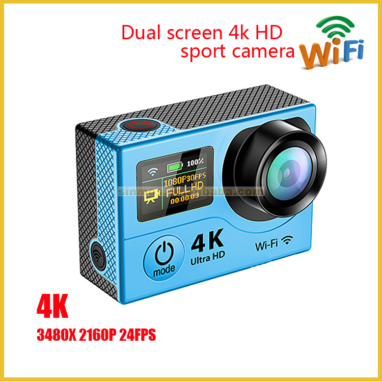 Ultra HD 4K action camara SPORTS CAM 170 degree wide Angle Sports Camera 2-inch dual Screen 1080p 60fps pro cam sports hd