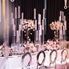rustic wedding centerpieces crystal tall tube candelabra pillar candle holder