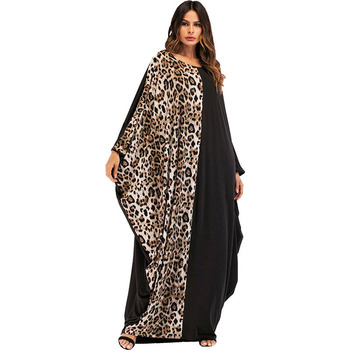 Leopard Patchwork Dubai Kaftan Islamic Maxi Dresses Moslim Jurken Fairy Dreams Women Abaya 2018 New Style Muslim Long Dress