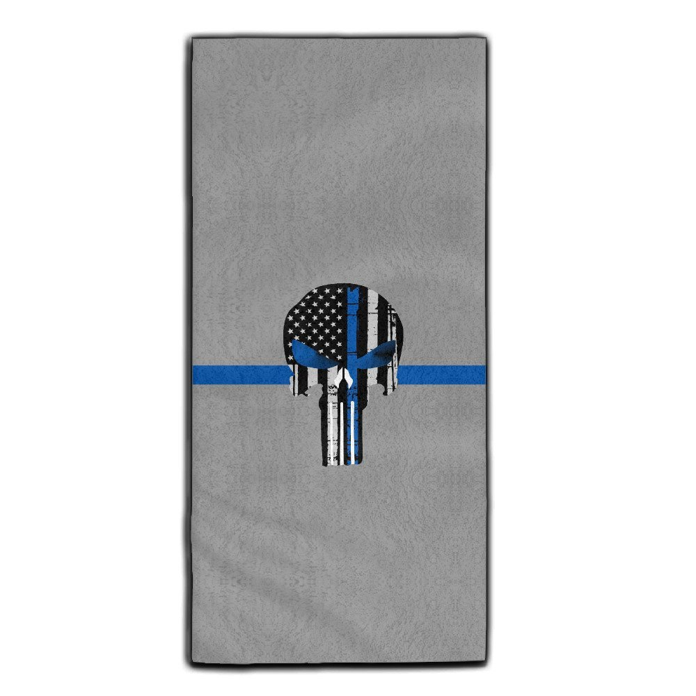 """Thin Blue Line The Punisher Logo1 Microfiber Towel,super Absorbent Towel,for Bath,Hair Care, Beauty, Sports, Cleaning Car Etc,size:11.8""""27.5"""""""