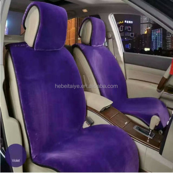 Colorful Car Interior Decoration Sheep Wool Seat Cover
