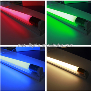 glass decoration special use yellow red green blue T8 led tube light led color tube