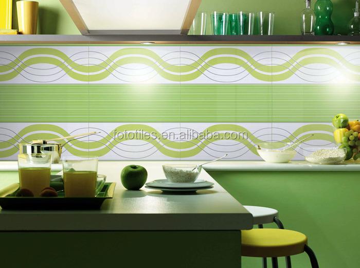 Dise os verde azulejo de cer mica de pared para la cocina for Azulejo de la pared de la cocina verde