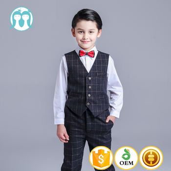 Fashion Kids Wedding Suits Formal Black Suits For Boys - Buy Kids ...