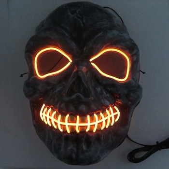 Led Mask Light Up Neon Mask Party Festival Cosplay Costume Christmas Xmas New Year Gift Halloween Scary Horror Mask