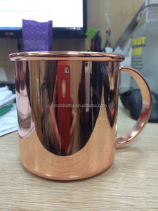 STAINLESS STEEL TANKARD MUG, Moscow Mule Mug Copper Coated Cup Beer tumbler,14oz vodka copper cup