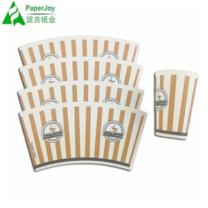 Flexo Printed Paper Cup Fan APP Cup Stock Paper With Single Side PE coated Paper Cup Raw Material 240+18gsm