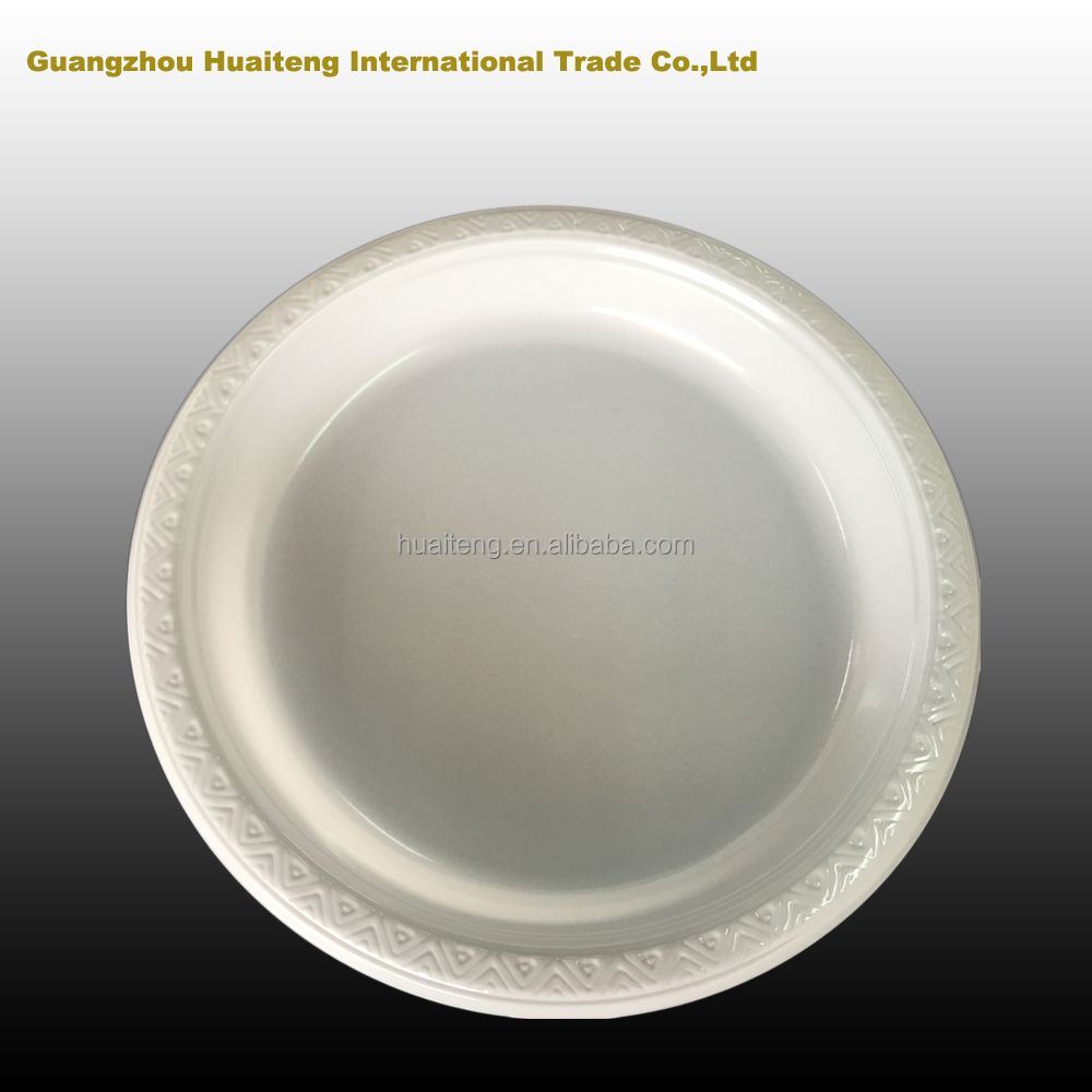 white plastic charger plate wedding/party plate factory price