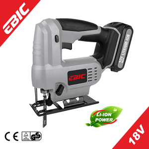Ebic 18V Li-ion Cordless jig Saw with 51mm wood cutting jig saw machine