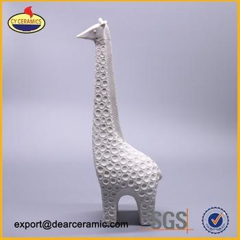 Glaze Ceramic Giraffe Figurine Decorative Statue Home Decoration Indian