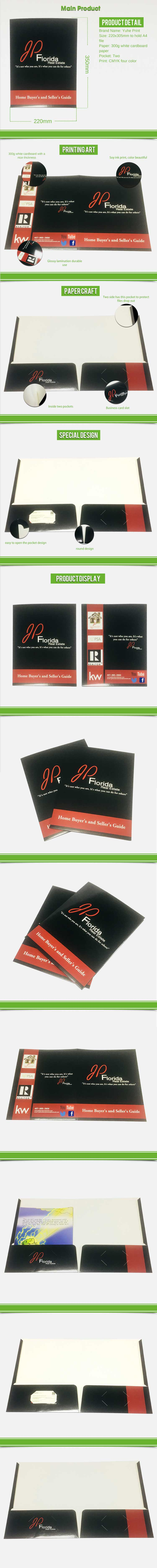 Custom collecting paperboard album folder with logo diecut holes and gloss lamination