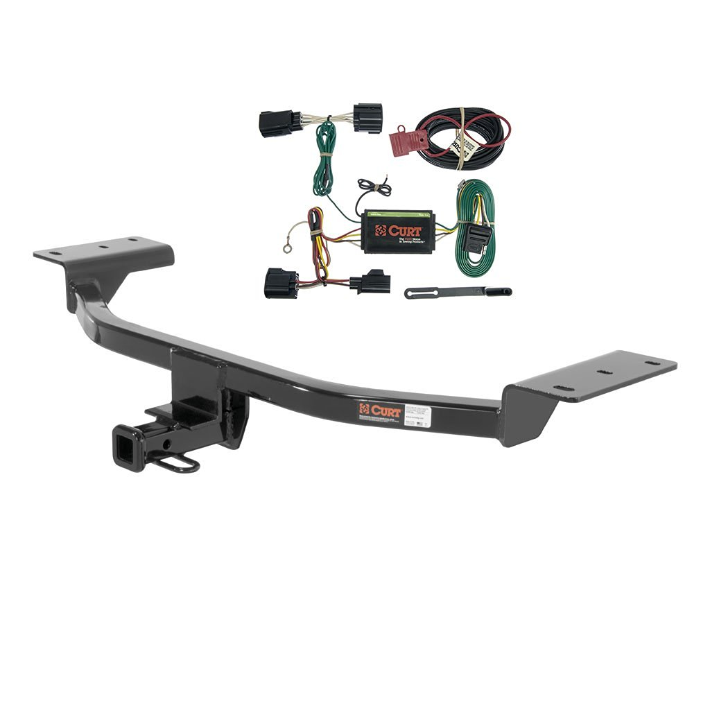 CURT Class 1 Trailer Hitch Bundle with Wiring for 2012-2014 Ford Focus -  11158