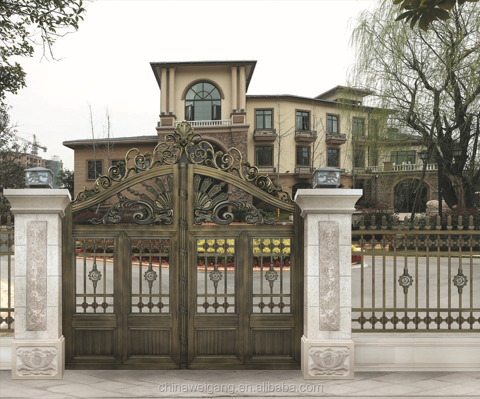 Hot selling iron main gate designs for homes buy main for Wall gate design homes