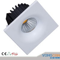 2019 LED down light Small square LED COB indoor ceiling light down light 3W