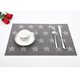 Plastic placemat grey star style textilen waterproof table placemat