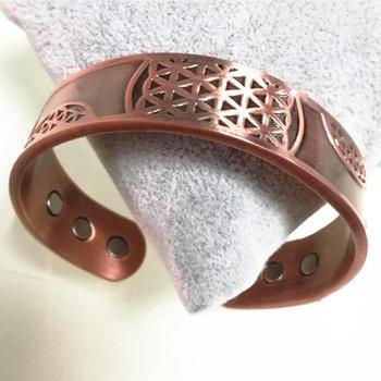 Pure Copper Magnetic Cuff Heavy Wide