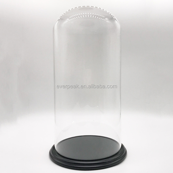 Factory Whole Bell Jar Display Case Bamboo Tray Cloche Gl Dome Wood Base Can Custom