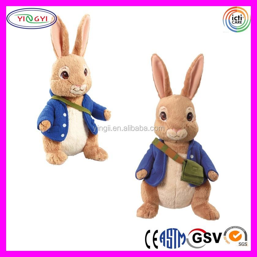 D683 Chaqueta Azul Conejo Relleno Suave Animal Peluche Conejo Que ...