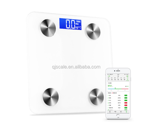 Fee APP Electronic body fat glass bluetooth bathroom scale