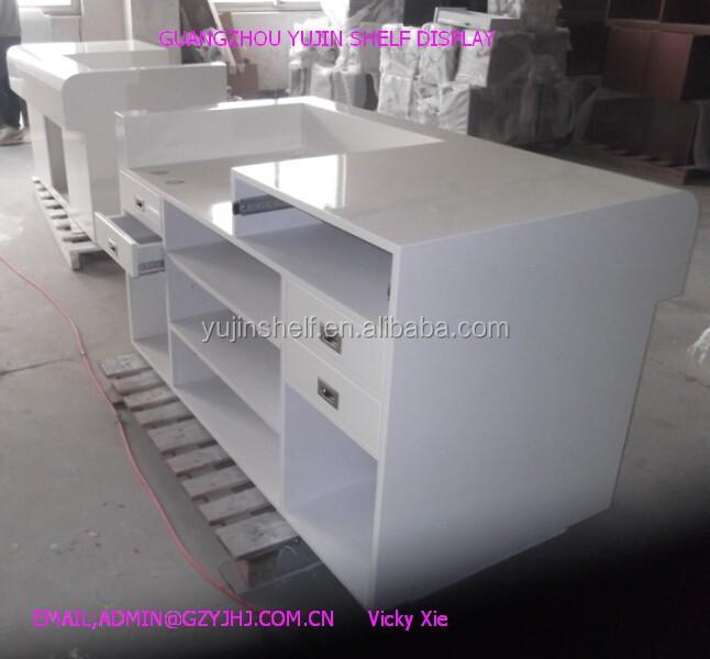 Modern Design Retail Wooden Cash Counter For Shop