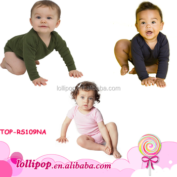 bdc122723 Popular Newborn Baby Unisex Rompers 100% Cotton Long Sleeve Baby ...