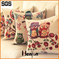 wholesale custom printed linen hand embroidery cushion cover
