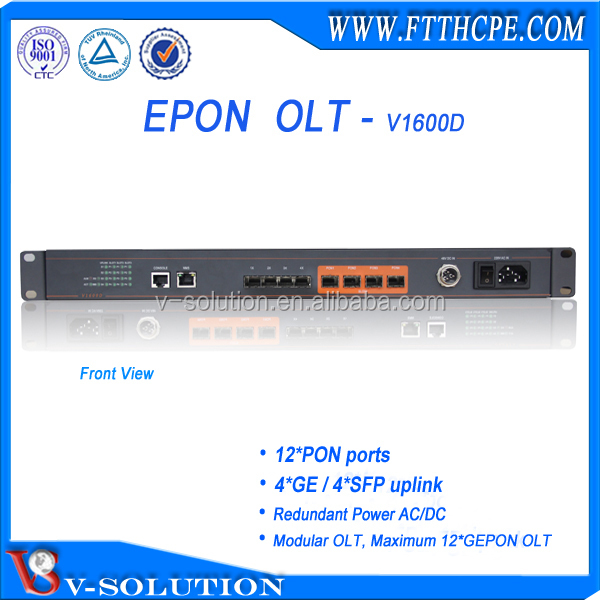 EPON FTTH OLT/Optic Fiber Equipment with 12 PON Ports for fibre to the home