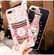 girls bottle quicksand case For iPhone XS max silicone TPU PC Dynamic liquid glitter cover for iphone 6 6s 7 plus fundas