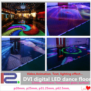 Club Disco Stage Digital Video Display Dance Flooring Led Lights ...