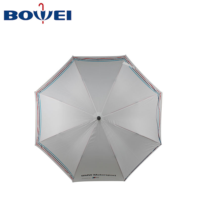 Newest high quality product straight golf umbrellas  with logo printing