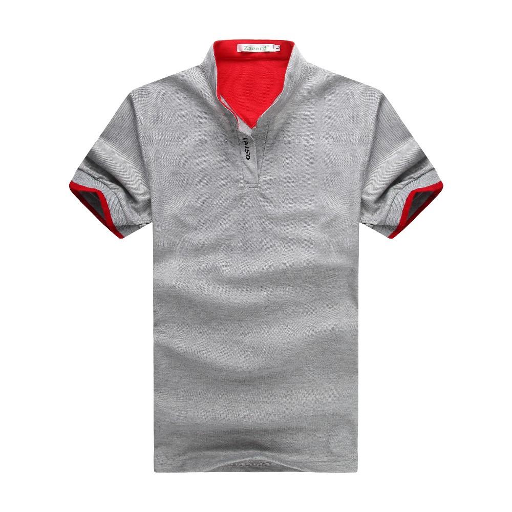 2016 Fashion Mens Polo Shirt Design With V Neck Short