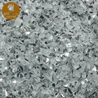 Factory wholesale solid cheap crushed mirror glass for home decoration glass