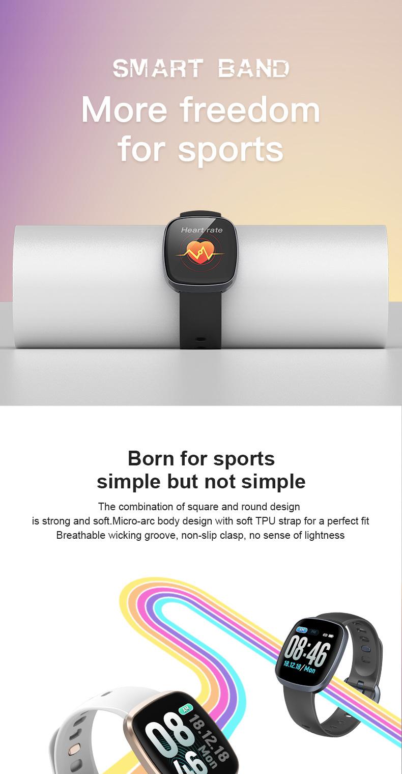 GT103 Waterproof IP67 digital smart watch with 1.3'' touch display