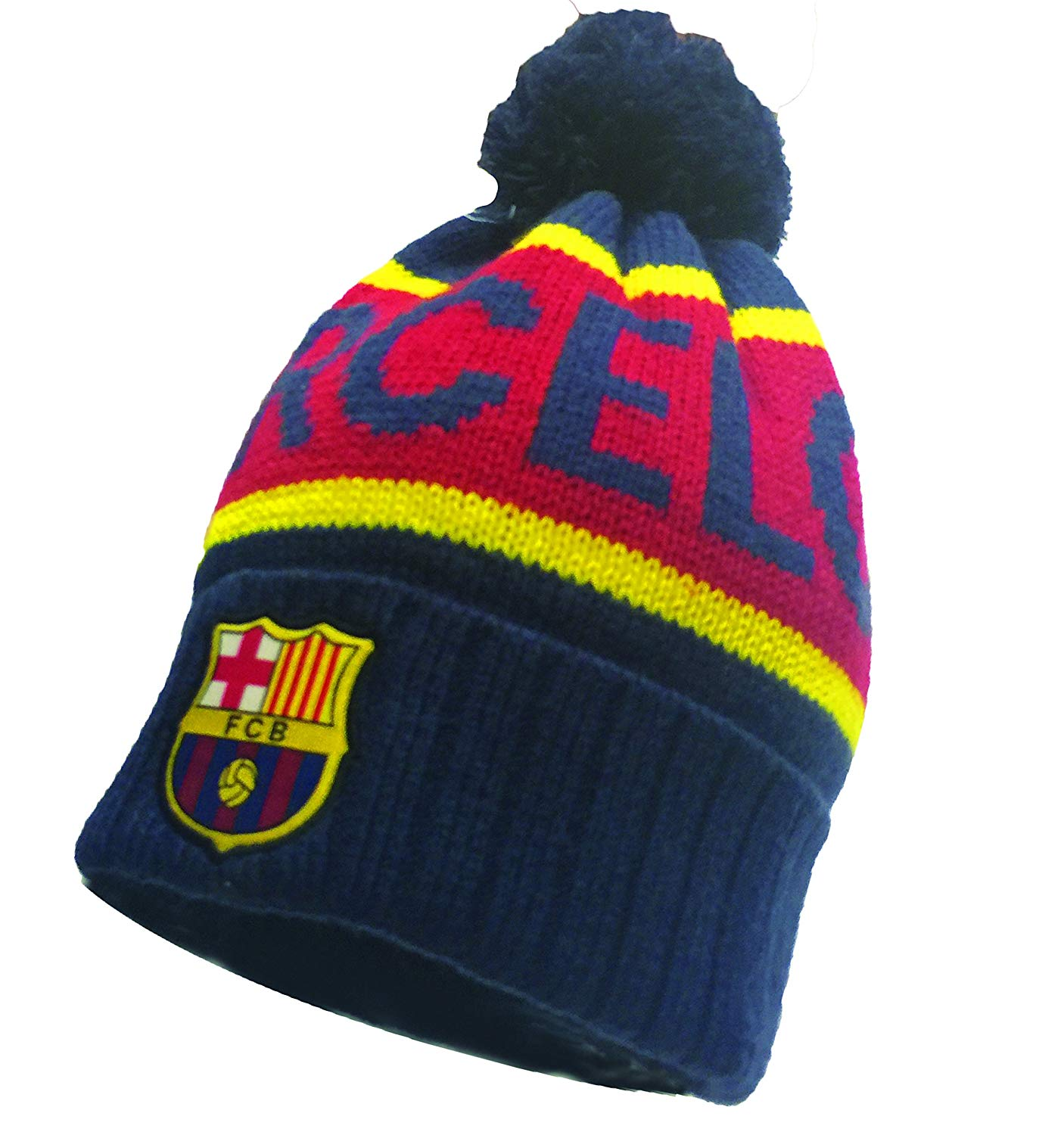 0739d883b5c4b Get Quotations · FC Barcelona Winter Hat Beanie