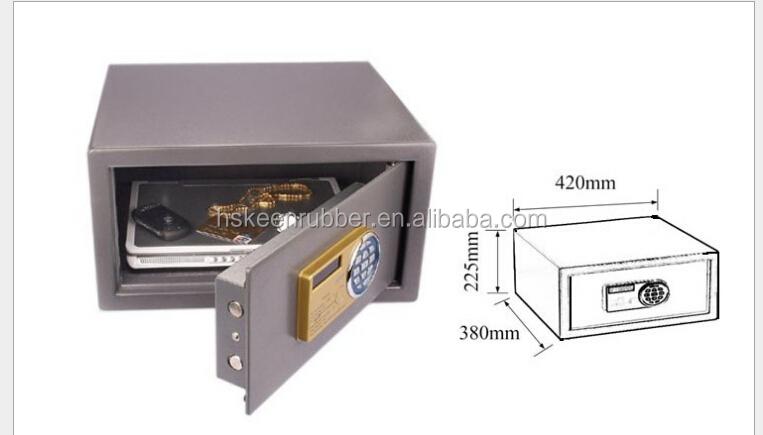 Hot sales new design digital hotel room safe deposit box for Safe room dimensions