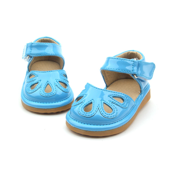 Rubber Sole Walking Kids Shoes With Sound Wholesale Baby Squeaky