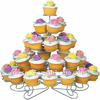 5 Tiers Wire Individual Cupcake Stand Birthday Cake