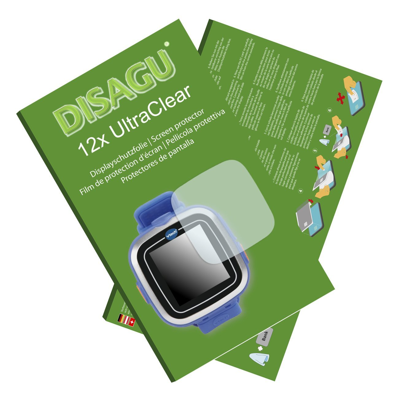 DISAGU 12x Ultra Clear Screen Protector for Vtech Kidizoom Smart Watch 1