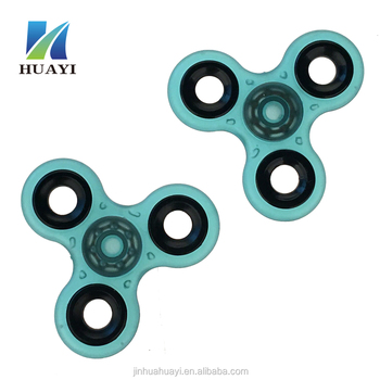 Hot selling real color plastic spinner toy fingertip gyroscope
