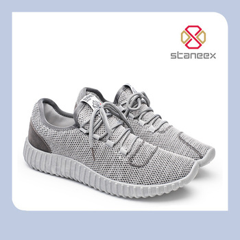 Fashion Flyknit Mesh Upper Sneakers High Top Portable Mens Running Shoes Breathable Casual Yeezy Boost