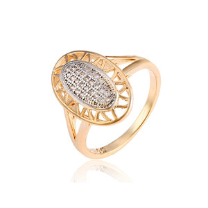 12926 xuping multicolor gold ring new design ladies finger ring fashion ellipse shape ring