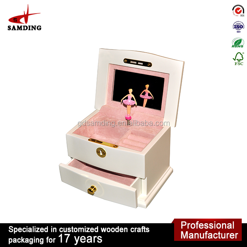 high gloss wood wedding favors music box electronic music box movements for sale