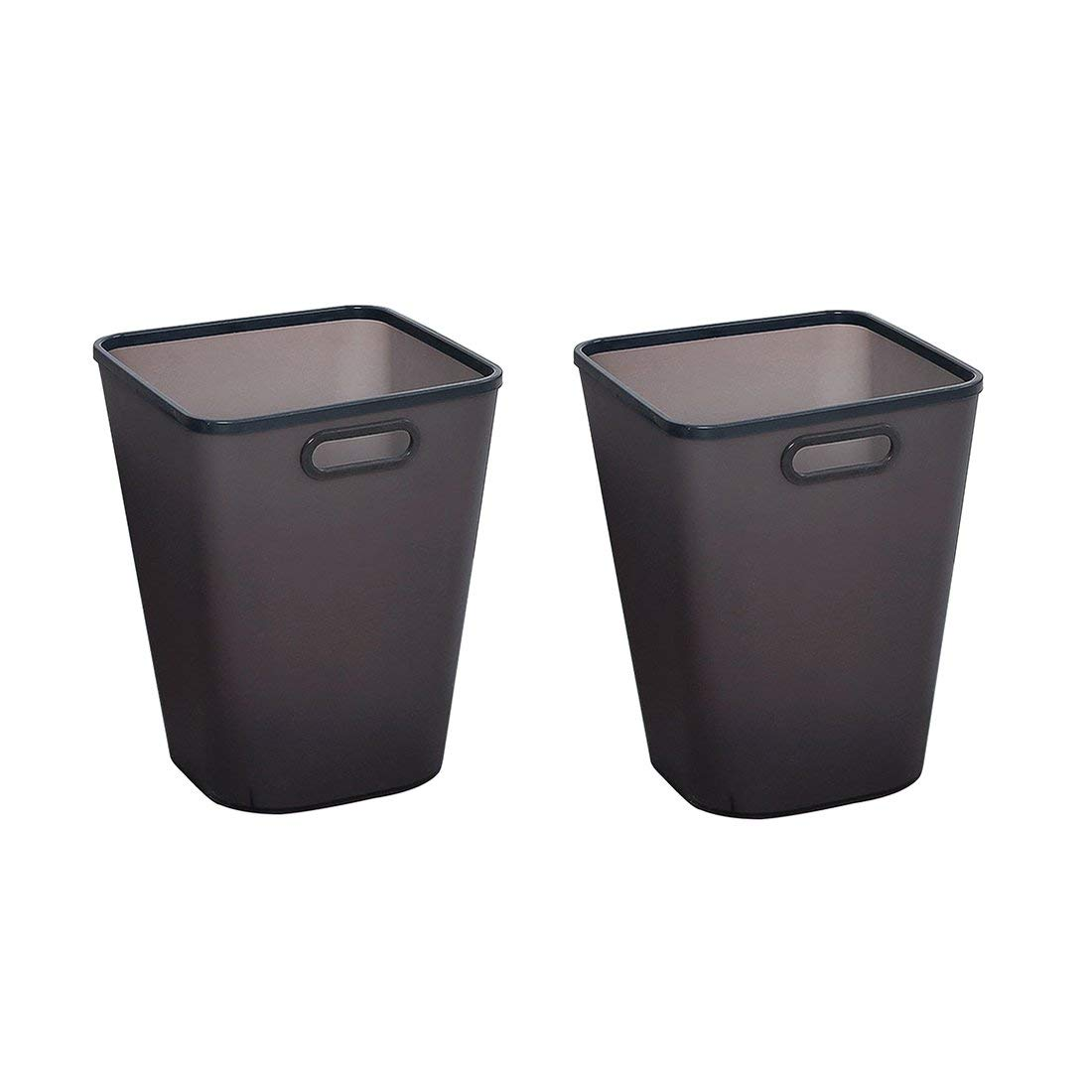 XSHION Trash Can Set of 2, Plastic Waste Paper Basket for Office/Recycle Bins for Home Wastebasket 4 Gallon