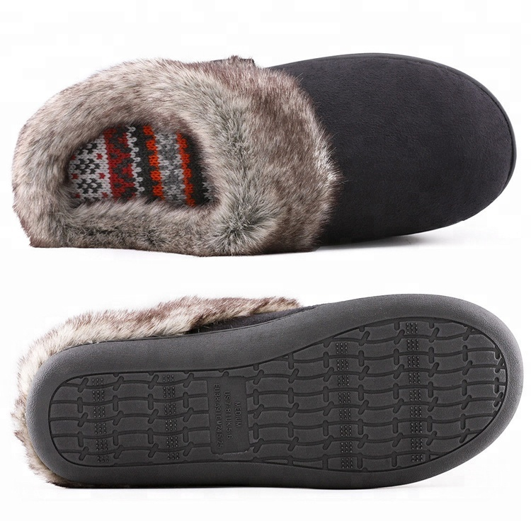 a3160700025 Women s Seranoma Women s Faux Fur Comfort Slip On Memory Foam Indoor Clog  House Slippers XL Brown