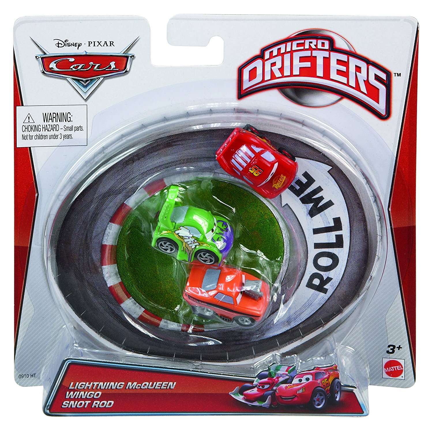 Cars Micro Drifters Lightning McQueen, Wingo and Snot Rod Vehicle, 3-Pack