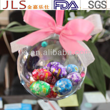 Dia100mm Hollow plastic decoration craft ball for Christmas gift